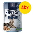 Sparpaket Happy Cat Pouch Meat in Sauce 48 x 85 g