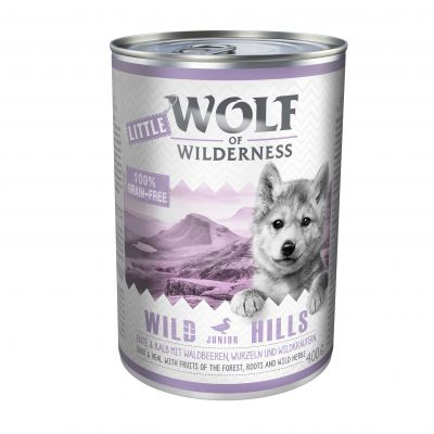 Sparpaket: Little Wolf of Wilderness Junior 24 x 400 g