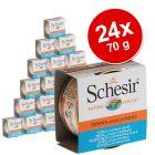 Sparpaket Schesir Natural in Sauce Katzenfutter 24 x 70 g