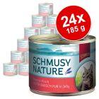 Sparpaket Schmusy Nature Fisch 24 x 185 g