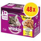 Sparpaket Whiskas 1+ Ragout 48 x 85 g