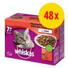 Sparpaket Whiskas 7+ Senior Frischebeutel 48 x 100 g