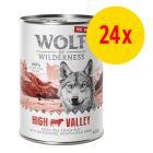 """Sparpaket Wolf of Wilderness """"Freiland Fleisch"""" 24 x 400 g"""
