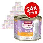 Sparpaket: 24 x 200 g Animonda Integra Protect Adult Diabetes Dose