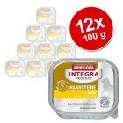 Sparpaket:  12 x 100 g Animonda Integra Protect Adult Harnsteine Schale