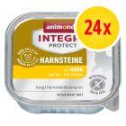 Sparpaket: 24 x 100 g Animonda Integra Protect Adult Harnsteine Schale