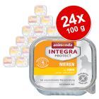 Sparpaket: 24 x 100 g Animonda Integra Protect Adult Niere Schale