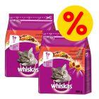 Sparpaket: 2 x Whiskas Trockenfutter 800 g / 1,9 kg / 3,8 kg/ 14 kg