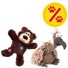 Sparpset! Trixie Geier Gustav + KONG WildKnots Bears Hundespielzeug