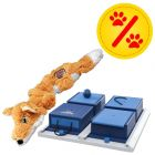 Sparset! KONG Scrunch Knots Fuchs + Trixie Dog Activity Poker Box