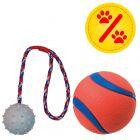 Sparset! Chuckit! Ultra Ball + Trixie Gummiball mit Schnur Hundespielzeug