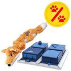 Sparset! KONG Scrunch Knots Fuchs + Trixie Dog Activity Poker Box