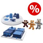 Sparset! Trixie Dog Activity Flip Board + Poker Box + KONG WildKnots Bears