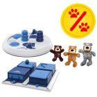 Sparset! Trixie Dog Activity Flip Board + Poker Box + KONG WildKnots Bears