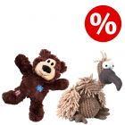 Sparset! Trixie Geier Gustav + KONG WildKnots Bears Hundespielzeug