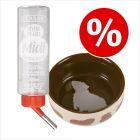 Sparset: Trixie keramikskål för gnagare + Classic De-Luxe vattenflaska