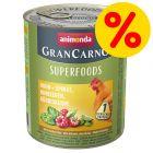 Säästöpakkaus: Animonda GranCarno Adult Superfoods 24 x 800 g