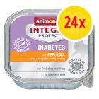 Säästöpakkaus: Animonda Integra Protect Adult Diabetes -rasiat 24 x 100 g