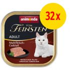 Säästöpakkaus: Animonda vom Feinsten 32 x 100 g