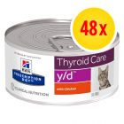 Säästöpakkaus: Hill´s Prescription Diet -purkkiruoka 48 x 156 g