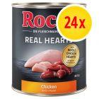 Säästöpakkaus: Rocco Real Hearts 24 x 800 g