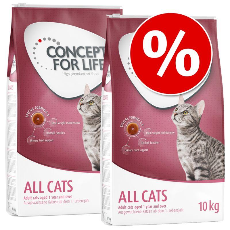 Säästöpakkaus: 2 x Concept for Life -kissanruokaa