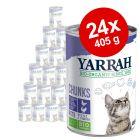 Säästöpakkaus: 24 x 405 g Yarrah Organic Chunks