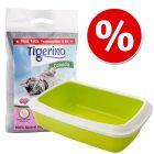 Startpakke til killinger: Tigerino Canada Style kattegrus + Savic kattebakke