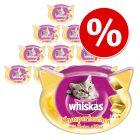Stort ekonomipack: 10 st Whiskas kattgodis till lågpris!