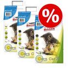 Super Benek Corn Cat  Clumping Litter Economy Packs 3 x 7 Litres