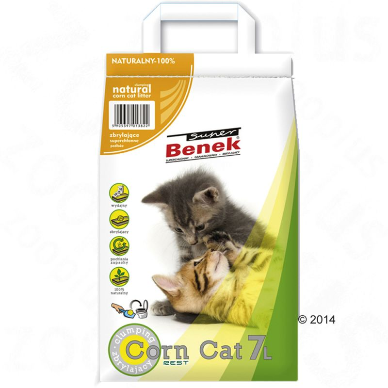 Super Benek Corn Cat Natural areia vegetal aglomerante