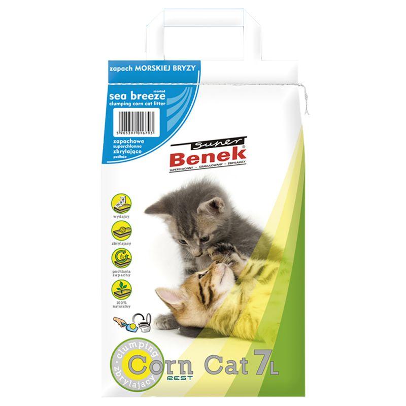 Super Benek Corn Cat Sea Breeze Clumping Litter