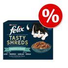 15% taniej! Felix Tasty Shreds, 12 x 80 g