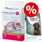 Tapis absorbants Savic Puppy Trainer + 1,5 kg Concept for Life Junior à prix avantageux !