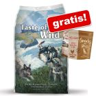 Taste of the Wild 13 kg + mrazem sušený pamlsek Purizon Snack kuře & ryba!