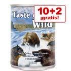 Taste of the Wild 12 x 390 g en oferta 10 + 2 ¡gratis!