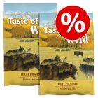 Taste of the Wild gazdaságos csomag 2 x 13 kg / 2 x 12,2 kg