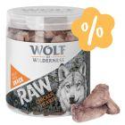 Tavaszi akció Wolf of Wilderness fagyasztva szárított snack rendkívüli áron
