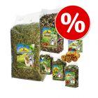 6-teiliges Mixpaket von JR Farm: Futter, Heu, Kräutermischung und Snack