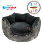 ThermoSwitch® Santorini Memory-Foam hundsäng silver/grå