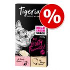 Tigeria Milk Cream 8 x 10 g snacks para gatos ¡con descuento!