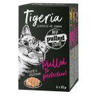 Tigeria Pulled Meat 6 x 85 g comida húmeda para gatos