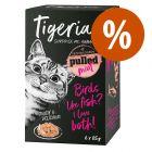 Tigeria Pulled Meat 6 x 85 g comida húmeda para gatos ¡a precio especial!