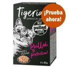 Tigeria Pulled Meat 6 x 85 g comida húmeda para gatos - Pack mixto