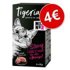Tigeria 6 x 85 g comida húmeda para gatos ¡solo por 4 €!