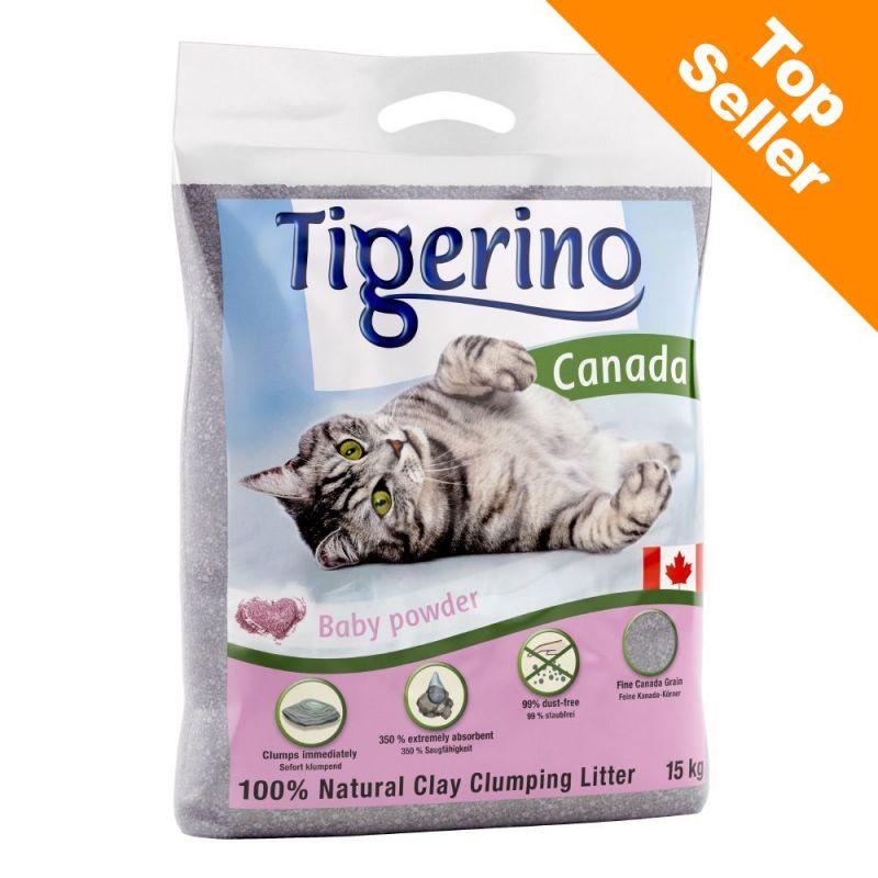Tigerino Canada areia aglomerante com aroma a pó de talco