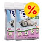 Tigerino Canada arena para gatos pack ahorro 2 x 12 kg