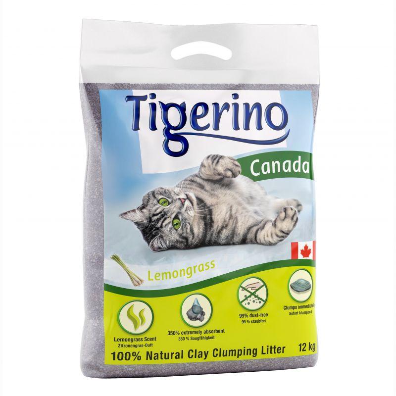 Tigerino Canada -kissanhiekka, sitruunaruohontuoksuinen