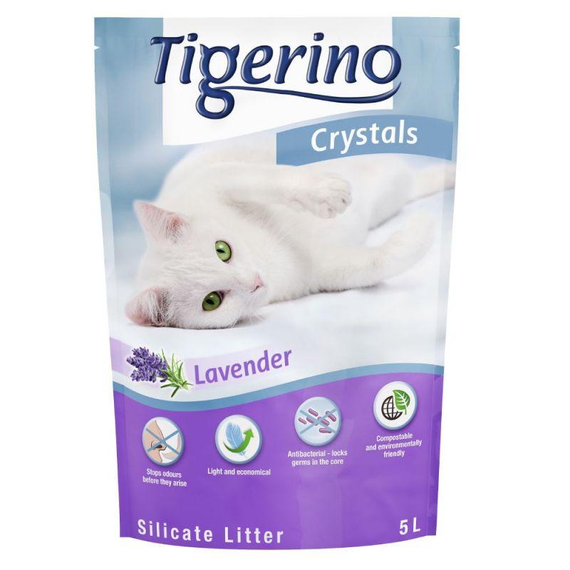 Tigerino Crystals areia absorvente com aroma a lavanda