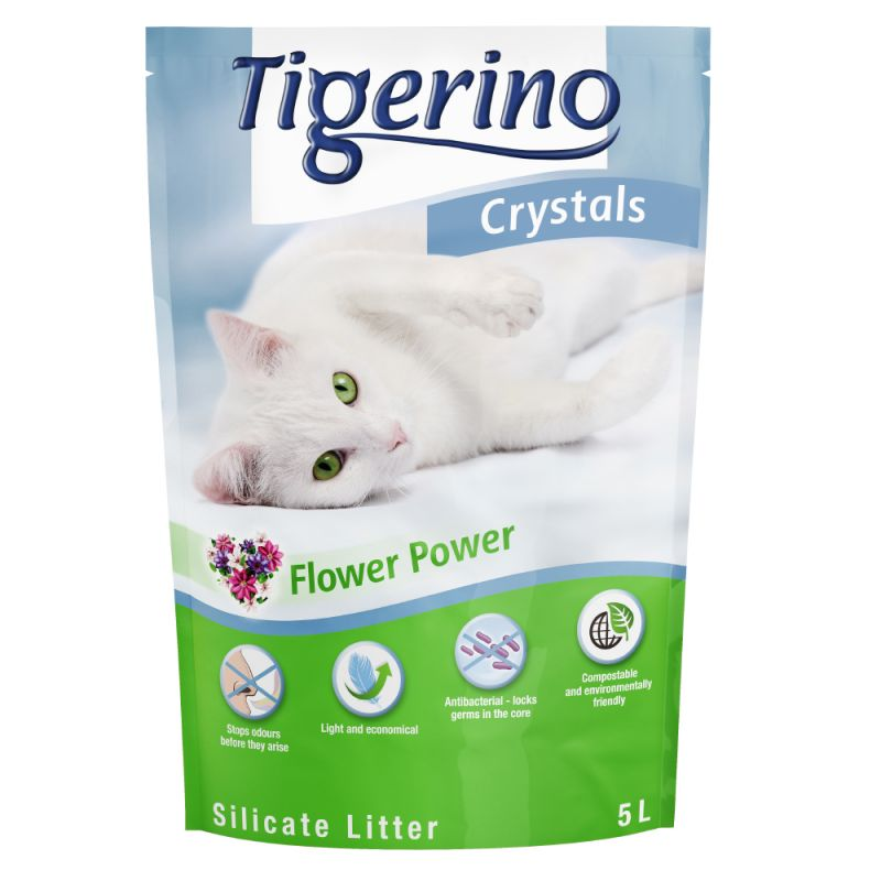 Tigerino Crystals Flower Power Cat Litter